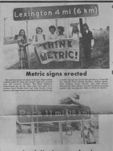 Metric Sign
